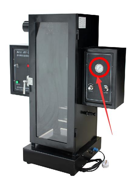 JCY-2建材烟密度测试仪的压力表图示